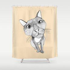 BigHead Cat Shower Curtain