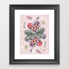 Flower love Framed Art Print