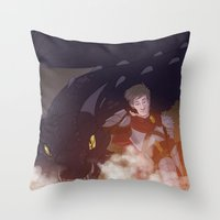 dungeons and dragons Throw Pillows featuring Dragons and Direction: Louis by invisibleinnocence