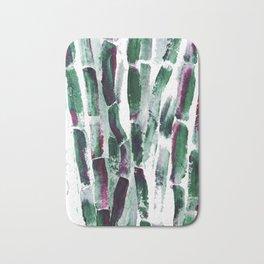 Greenery and Purple Art Sugar Cane Bath Mat