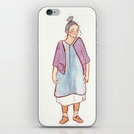 fashion illustration iPhone Skin