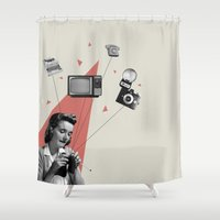 knitting Shower Curtains featuring Knitting by Andrea Eedes
