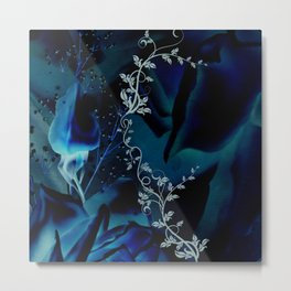 Beautiful roses in blue colors Metal Print