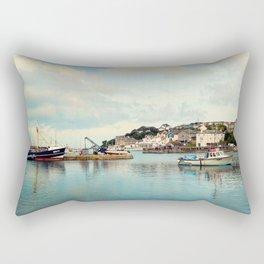 Fishing town Rectangular Pillow