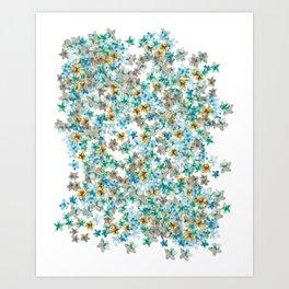 Little Flowers For You Art Print