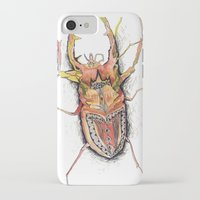 beetle iPhone & iPod Cases featuring Beetle by Cherry Virginia