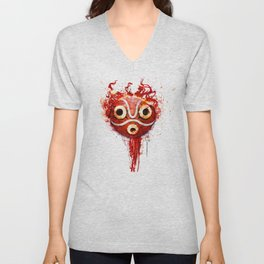 princess mononoke mask  Unisex V-Neck