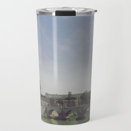 Castel St. Angelo Stands Guard Over the Tiber River - Rome, Italy Travel Mug