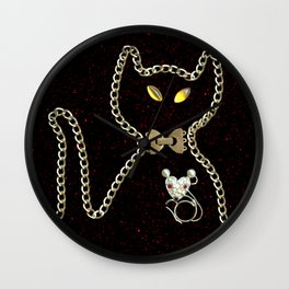 I Love Me Mouse! Cat and Mouse Jewelry Scanography Wall Clock