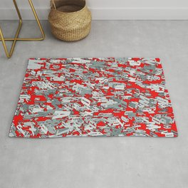 The letter matrix RED Rug