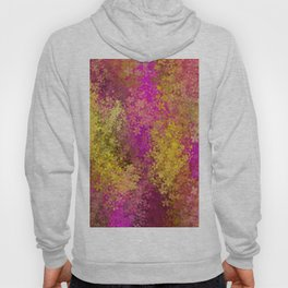 flower pattern abstract background in pink and yellow Hoody