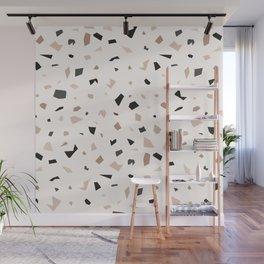 Terrazzo Earthy Marble Pattern Wall Mural
