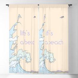 Life's a Beach Blackout Curtain