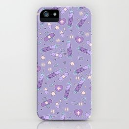 Menhera Needles on Purple iPhone Case