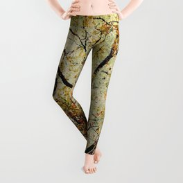 Breathe: Asian Look Copper Branches Leggings
