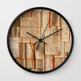 Vintage Novels (Color) Wall Clock