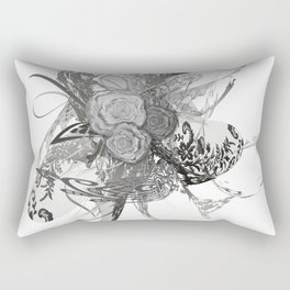 50 shades of lace Grey Silver Rectangular Pillow
