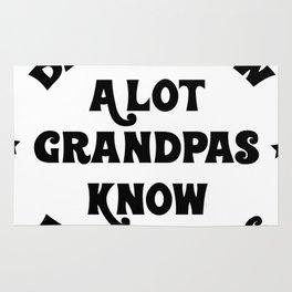 Funny Grandpa Grandpas Know Everything Rug