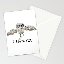 I Stare You Stationery Cards