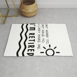 Retirement Gifts Funny For Men Women Husband Dad Mom Rug
