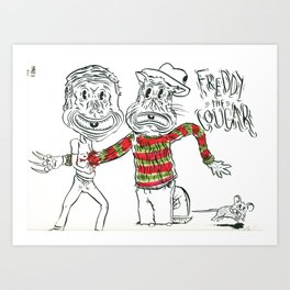 Freddy the Cougar Art Print