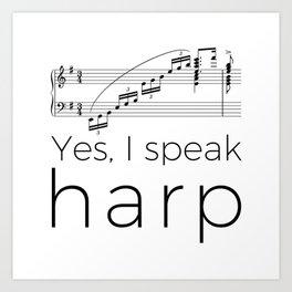 I speak harp Art Print