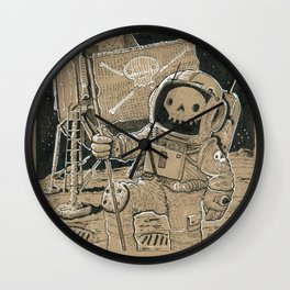 First on the Moon Wall Clock