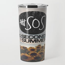 5 seconds of summer sunflowers Travel Mug