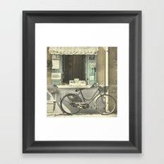 Burano Bicycle Framed Art Print
