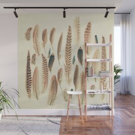 Found Feathers Wall Mural