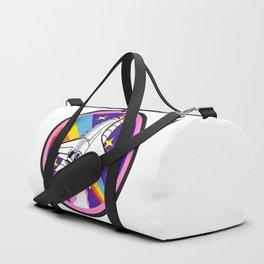 pink rainbow rocket Duffle Bag