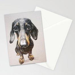 Dog dachshund Stationery Cards