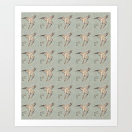Hokusai Cuckoo and azaleas 2 -hokusai,manga,japan,Katsushika,cuckoo,azaleas,Rhododendron Art Print