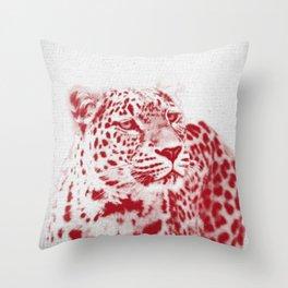 Leopard 01 Throw Pillow