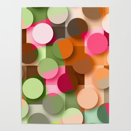dots & squares Poster