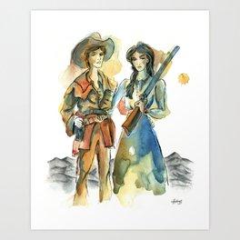 Pioneer Wives Art Print