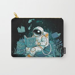A reader lives a thousand lives - Cosmonaut Under The Sea Carry-All Pouch