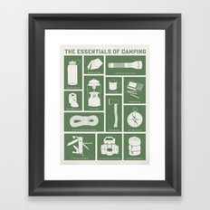 The Essentials of Camping Framed Art Print
