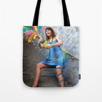 champagne Tote Bags featuring Champagne by Lindella