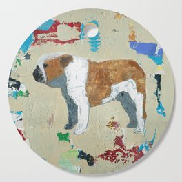 English Bulldog Abstract Art Cutting Board