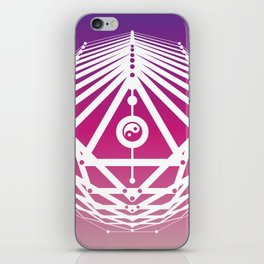 Radiant Abundance (warm purple-white) iPhone Skin