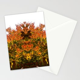 Sunny Autumn Leaves Fall Vibes Stationery Cards