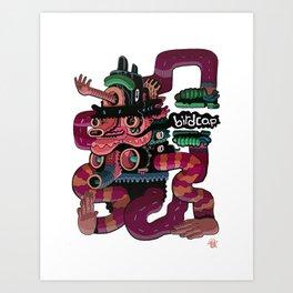 Birdcap Shruggins Art Print