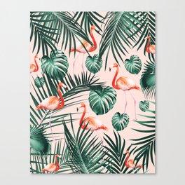 Tropical Flamingo Pattern #2 #tropical #decor #art #society6 Canvas Print
