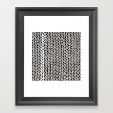 Grey Knit With White Stripe Framed Art Print