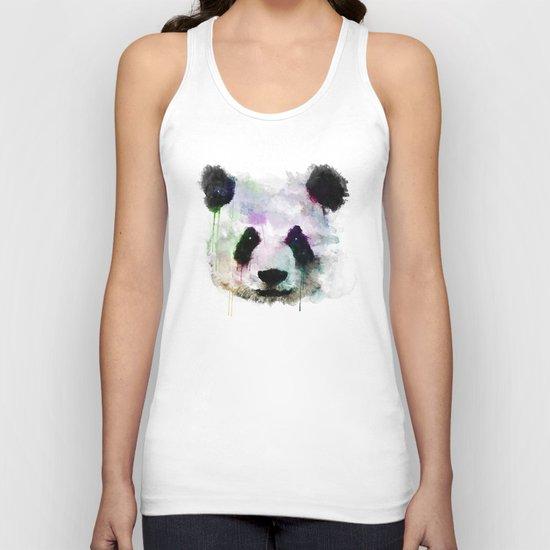 Panda Face - Watercolor Unisex Tank Top