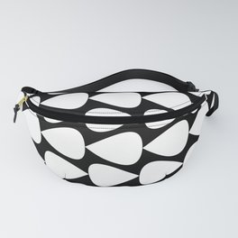 Plectrum Pattern in White and Black Fanny Pack