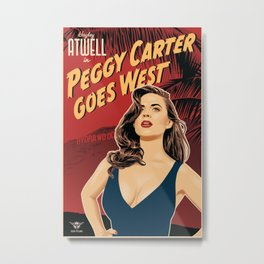 Peggy Carter Goes West Metal Print