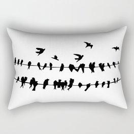 Birds On A Wire Rectangular Pillow