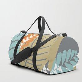 Bright Tropical Leaf Retro Mid Century Modern Duffle Bag